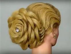BLOG-Peinado de boda en forma de rosa
